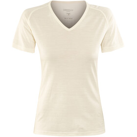 Devold Breeze V-Neck T-Shirt Women Offwhite